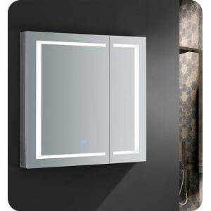"""Fresca FMC023636 Spazio 36"""" Wide x 36"""" Tall Bathroom Medicine Cabinet with LED Lighting and Defogger  in"""