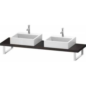 """Duravit L-Cube Collection LC101C07272 19"""" Floor Standing Single Console with Two Cut-Out for Above Counter Basin in Brushed Dark Oak"""
