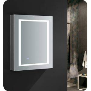 """Fresca FMC022430-R Spazio 24"""" Wide x 30"""" Tall Bathroom Medicine Cabinet with LED Lighting and Defogger  in"""