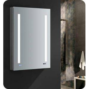 """Fresca FMC012436-R Tiempo 24"""" Wide x 36"""" Tall Bathroom Medicine Cabinet with LED Lighting and Defogger  in"""