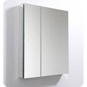 """Fresca FMC8091 30"""" x 36"""" Medicine Cabinet with Frameless Design  Two Mirrored Doors and Four Adjustable Glass"""