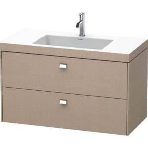 """Duravit Brioso Collection BR4607N1075 39.38"""" Wall Mounted Vanity with Two Drawers Includes C-Bonded Wash Basin without Faucet Hole in"""