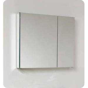 """Fresca FMC8090 30"""" Wide Bathroom Medicine Cabinet with 2 Mirrored Doors and 2 Glass"""