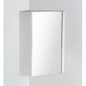 """Fresca Coda Collection FMC5084WH 18"""" White Corner Medicine Cabinet with Soft Closing Mirror Door and 2"""