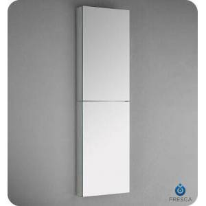 """Fresca FMC8030 52"""" Tall Bathroom Medicine Cabinet with 2 Mirrored Doors and 4 Adjustable Glass"""