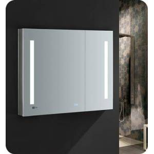 """Fresca FMC013630 Tiempo 36"""" Wide x 30"""" Tall Bathroom Medicine Cabinet with LED Lighting and Defogger  in"""