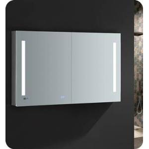 """Fresca FMC014830 Tiempo 48"""" Wide x 30"""" Tall Bathroom Medicine Cabinet with LED Lighting and Defogger  in"""