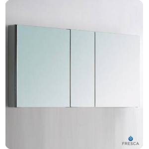 """Fresca FMC8013 50"""" Wide Bathroom Medicine Cabinet with 3 Mirrored Doors and 4 Glass"""