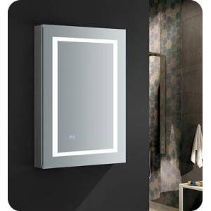 """FMC022436-R Spazio 24"""" Wide x 36"""" Tall Bathroom Medicine Cabinet with LED Lighting and Defogger  in"""