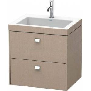 """Duravit Brioso Collection BR4605N1075 23.62"""" Wall Mounted Vanity with Two Drawers Includes C-Bonded Wash Basin without Faucet Hole in"""