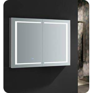 """Fresca FMC024836 Spazio 48"""" Wide x 36"""" Tall Bathroom Medicine Cabinet with LED Lighting and Defogger  in"""