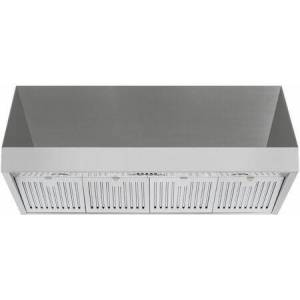 """Forza FH4824 48"""" Pro-Style Wall Mount Range Hood with 1200 CFM  24"""" Height  4 Speeds  Double Internal Blowers  LED Lighting  Square Push Buttons  4x Baffle"""
