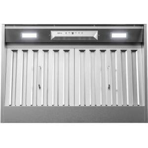 """Zephyr AK9228BS 30"""" Monsoon I Range Hood Insert with 600 CFM  ACT Technology  LumiLight LED Lighting and Auto Delay-Off in Stainless"""