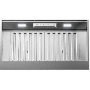 """Zephyr AK9234BS 36"""" Monsoon I Range Hood Insert with 600 CFM  ACT Technology  LumiLight LED Lighting and Auto Delay-Off in Stainless"""