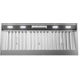 """Zephyr AK9246BS 48"""" Monsoon I Range Hood Insert with 1200 CFM  ACT Technology  LumiLight LED Lighting and Auto Delay-Off in Stainless"""
