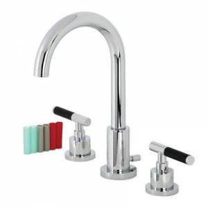 Kingston FSC8921CKL Fauceture Kaiser Widespread Bathroom Faucet with Brass Pop-Up  Polished