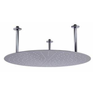 """Alfi RAIN24R-BSS 24"""" Round Ultra-Thin Rain Shower Head with Stainless Steel  Clear Rubber Nozzles  Modern Stylish Design and Flexible Water Supply in"""