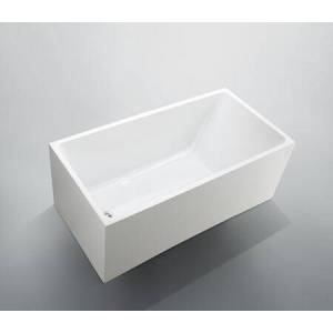 """Bellaterra Home BA6816B Catania 67"""" Freestanding Rectangle Acrylic Bathtub with Reversible Pop-up Drain Included in Glossy"""