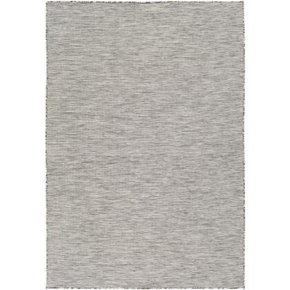 "Surya Pasadena PSA-2300 7'10"" x 10'2"" Rectangle Modern Rug in Light Gray  Medium Gray"