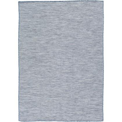 "Surya Pasadena PSA-2302 7'10"" x 10'2"" Rectangle Modern Rug in Denim  Dark Blue  Navy  Light Gray  Medium"