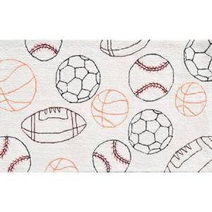 The Rug Market 71154B 2.8 x 4.8 ft. Balls Area Rug  in