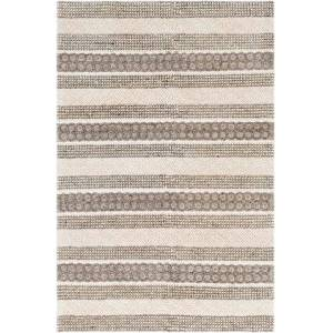 """Surya Farmhouse Neutrals FLS-2301 5' x 7'6"""" Rectangle Cottage Rug in Cream  Ivory  Charcoal"""