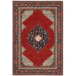 Oriental Weavers L5503M060190ST Lilihan 2' x  6' Traditional Rug with Wool and Nylon  in Red and