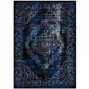 Modway Gamela Collection R-1132B-58 Rustic Vintage Ornate Floral Medallion 5x8 Area Rug in Moroccan Blue and Light Blue