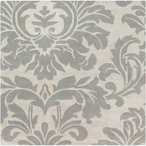 """Surya Athena Collection ATH5073-99SQ Square 9'9"""" Area Rug with Hand Tufting and Wool Material in Grey and Neutral"""