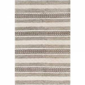Surya Farmhouse Neutrals FLS-2301 6' x 9' Rectangle Cottage Rug in Cream  Ivory  Charcoal