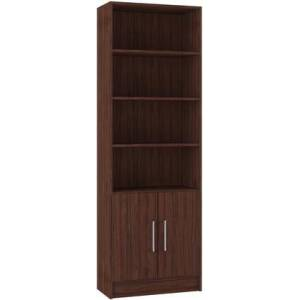 Manhattan Comfort Catarina Collection 29AMC164 Cabinet with 6 shelves in Nut Brown