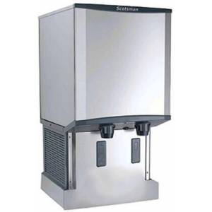Scotsman HID540AB Meridian Countertop Air Cooled Ice Machine and Water Dispenser Button Activated  40 lb Storage Capacity  115 V  500