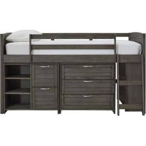 Ashley Caitbrook Collection B38862SET 4 PC Bedroom Set with Twin Size Loft Bed  Single Shelf Bookshelf  2-Drawer/2-Shelf Bookcase  3-Drawer Chest in