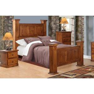 Chelsea Home Furniture Hide-Away Collection 858560G-M-GO Queen Size Bed with Hidden Storage  Wood Base in Golden Oak
