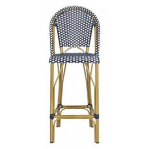 Safavieh PAT4008A Ford Indoor-Outdoor Stacking French Bistro Bar Stool in