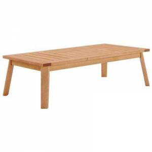 Modway Sedona Collection EEI-3682-NAT  Outdoor Patio Eucalyptus Wood Coffee Table with FSC Certified Eucalyptus Wood and Slatted Wooden Top in Natural