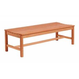 Vifah V025-1 5-foot Wood Backless Bench with 100% Eucalyptus Construction in Natural Wood