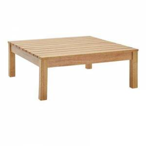 Modway Freeport Collection EEI-3695-NAT  Outdoor Patio Outdoor Patio Coffee Table with FSC Certified Karri Wood and Slatted Wood Top in Natural