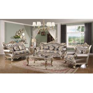 Cosmos Furniture Ariel Collection ARIELLIVINGROOMSET 5-Piece Living Room Set with Sofa  Loveseat  Chair  Coffee Table and End Table in