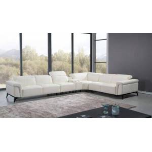 Eagle EK-L095 Collection EK-L095M-W 5-Piece Sectional Sofa with Left Arm Facing Loveseat  Armless Chair  Console  Wedge and Right Arm Facing Loveseat in
