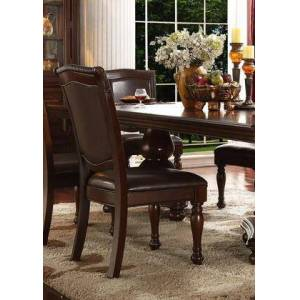 Myco Furniture Eva Collection EV605-S Side Chair with Full Back and Padded Seat in Espresso