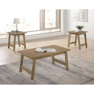 Progressive Furniture Matt T173-01-2ET 3-Piece Living Room Table Sets with Cocktail Table and 2 End Tables in Craftman