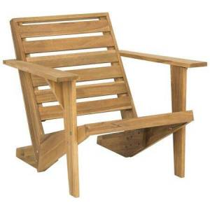Safavieh Lanty Collection PAT6746A Adirondack Chair with Contemporary Style  Wooden Armrest  Ladder Back Design and Acacia Wood Construction in Natural