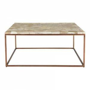 Moes Home Collection Moxie Collection GZ-1018-24 Coffee Table with Marble Material in Natural