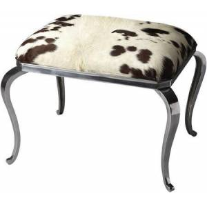 Butler Chantal Collection 4079220 Ottoman with Transitional Style  Rectangular Shape and Aluminum Material in Nickel
