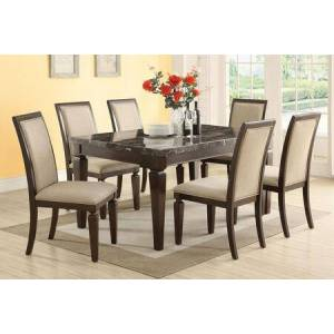 Acme Furniture Agatha Collection 72485T8C 9 PC Bar Table Set with Counter Height Table and 8 Counter Height Chairs in Espresso