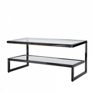 """Madison Park Signature Boyd Collection MPS120-0203 20"""" Coffee Table with Simple Stacked Design and Glass Mirror in"""