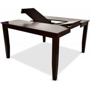 """Steve Silver Crosspointe Collection CP700PT 60"""" Counter Table with 18"""" Butterfly Leaf and Solid Hardwoods in Dark Espresso Cherry"""