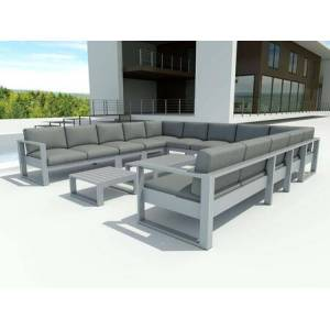 Anderson Lucca Collection Set-5003 Lucca 13-Piece Modular Set in Gray