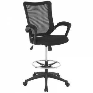 Modway EEI-2287-BLK Project Drafting Stool  in